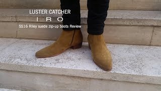 Iro SS16 Riley suede zip-up boots review