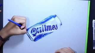 How I draw a Quilmes - Time Lapse (Desenho realista - Realistic draw)