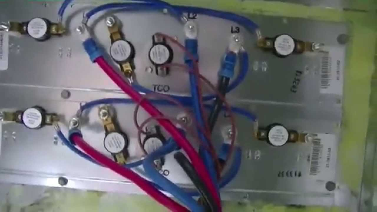 Hvac Service Trane Electric Heat Kit Install Youtube Hot Air Furnace Wiring Diagram