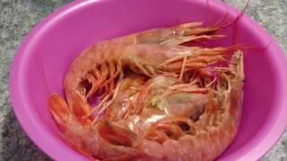 Креветки лангустины на сковороде-гриль