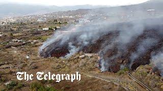 video: Lava swallows 150 homes in La Palma as earthquakes rock island