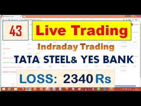 Live Trading# 43: Intraday Trading, Yesbank  & Tata Steel-  Loss 2340 RS