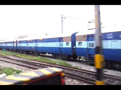 Bangalore Express arriving at SBC Bangalore Central Railway Station