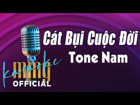 Cát Bụi Cuộc Đời (Karaoke Tone Nam) | Hát với MMG Band