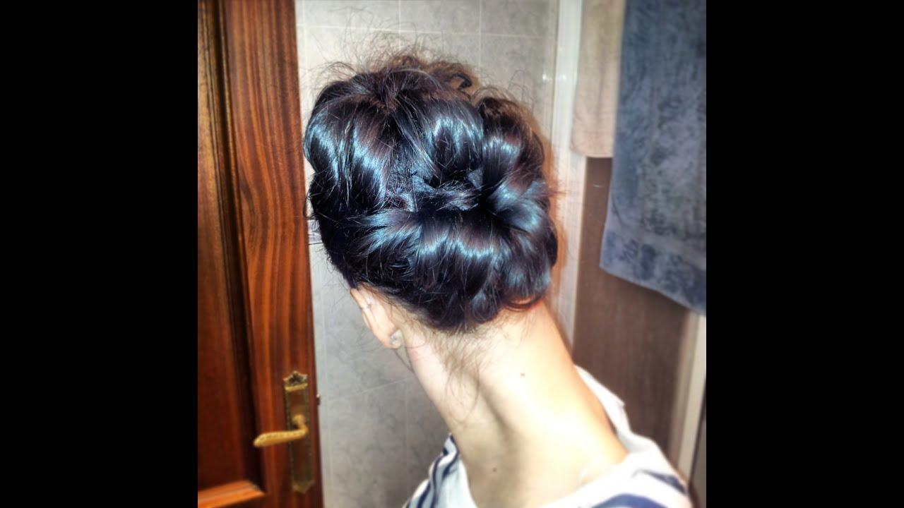 Peinado recogido f cil para boda con con 2 coletas youtube - Como hacer peinado para boda ...