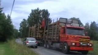 Bodafors Transport AB  2 st Scania 143H Timmerbilar Sommaren 2011