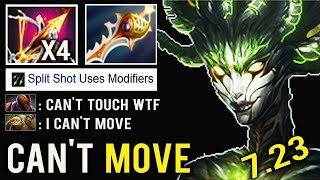 NEW CRAZY ITEM All Team Knockback Can't Move Ballista Medusa Rapier Throne Defense vs AM Dota 2