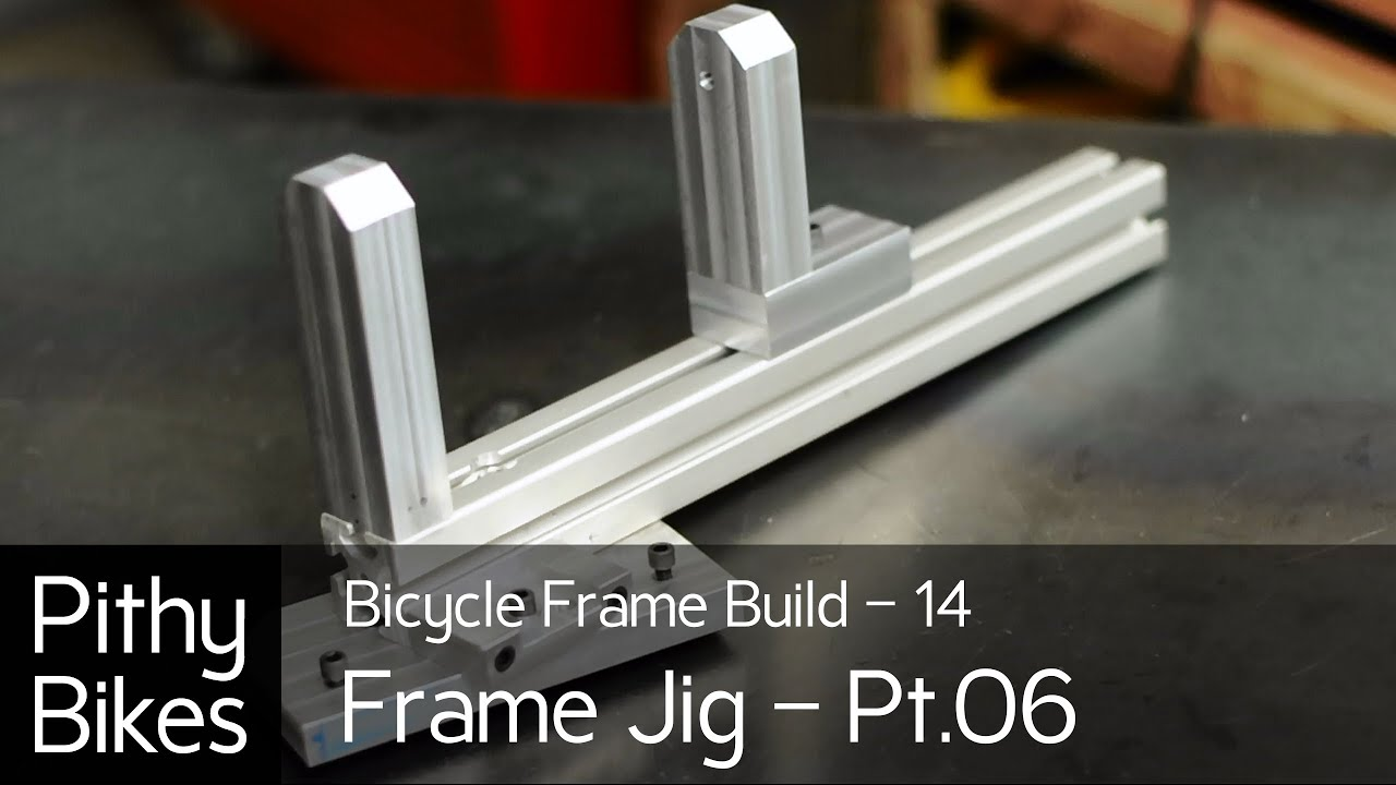bicycle frame build 14 frame jig pt06 machining head tube arms for jig youtube