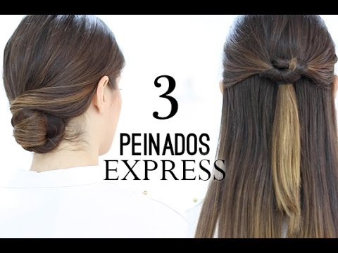 Peinados Faciles Y Rapidos Express Youtube