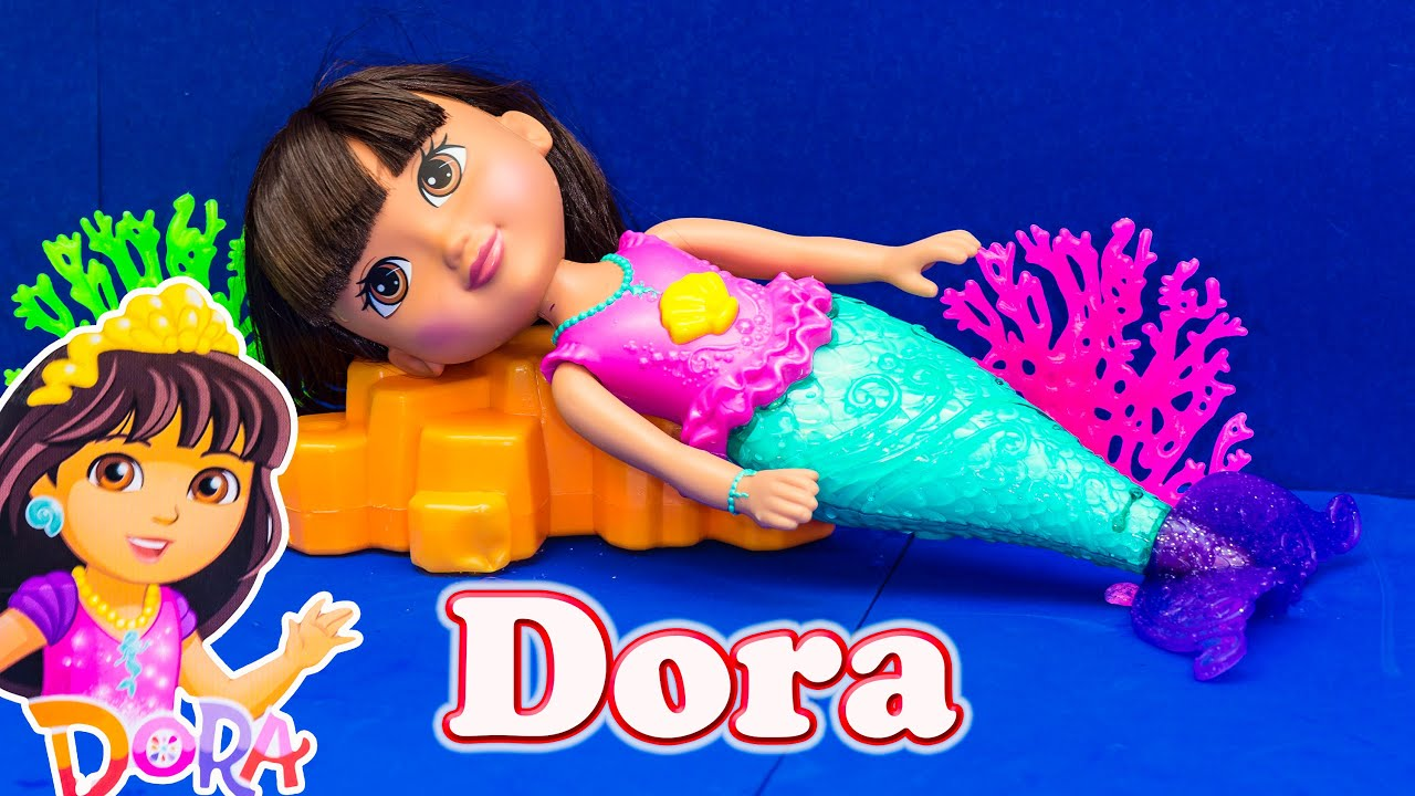 Dora And Friends Dora Sparkle Swim Mermaid Toy Unboxing Youtube