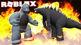 Roblox Adventures - GODZILLA vs. KING KONG IN ROBLOX! (Godzilla Simulator)