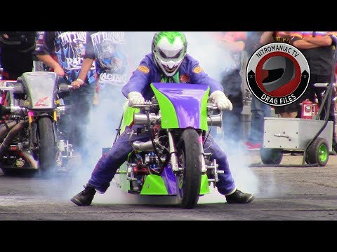 2018 NHRA Rocky Mountain Nationals Part 6 - Pro Fuel Bike and Top Fuel Harley Qualifying Round 1