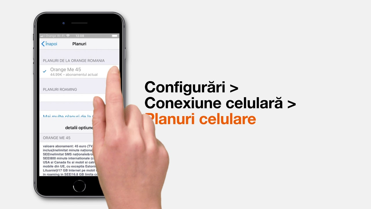 Cum aflu informații despre abonamentul meu Orange pe iPhone? | Orange