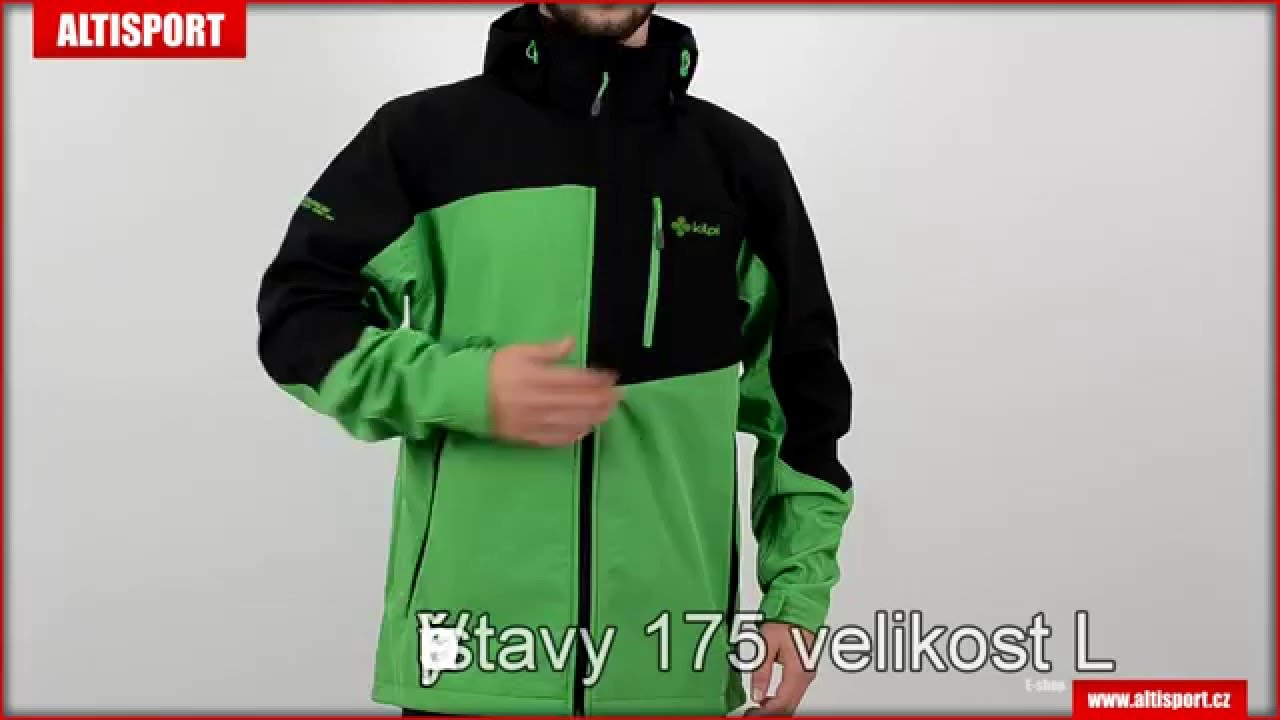 pánská bunda softshell kilpi elio černozelená - YouTube c5713b64c5