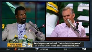 The HERD | James Jones DEBATE: Are Rodgers-LaFuleur best QB-coach combo in the NFC North?