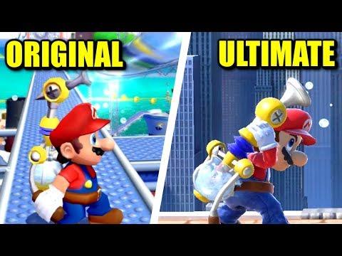 Smash Ultimate - Origin of Mario Moves, Animations & Costumes thumbnail