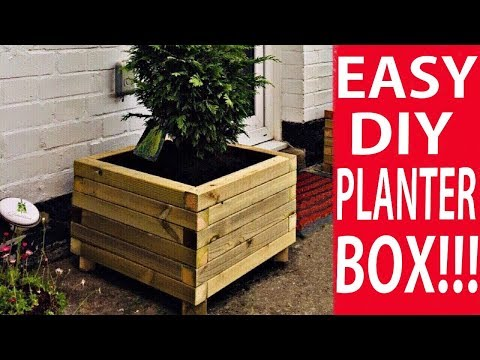 How to Make a Wooden Planter Box - The Easy Way to Build a DIY Planter Box | DIY Decor Ideas