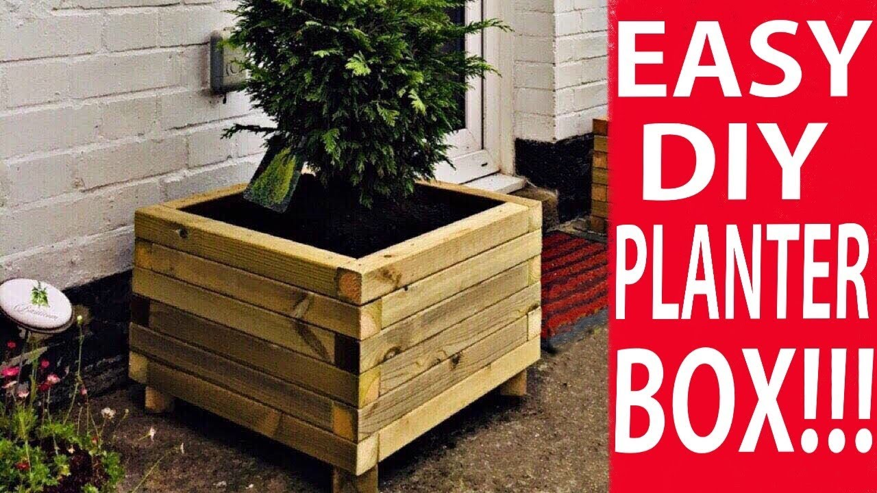 How To Make A Wooden Planter Box The