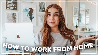 WFH Day in my Life + 12 Tips for Working from Home! | 2020 Morgan Yates