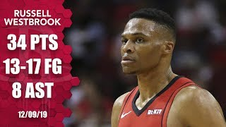 Russell Westbrook cooks up 34 points in Rockets vs. Kings | 2019-20 NBA Highlights