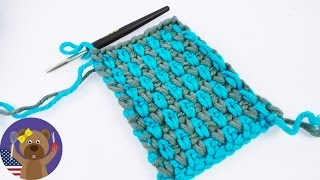 Crocheting Pattern | Two-Colored | Pearl Pattern | Simple and Easy