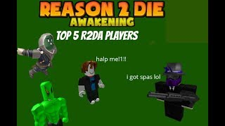 5 types of R2DA Roblox Players