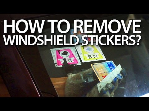 How to remove stickers from windshield in your car? (road tax)