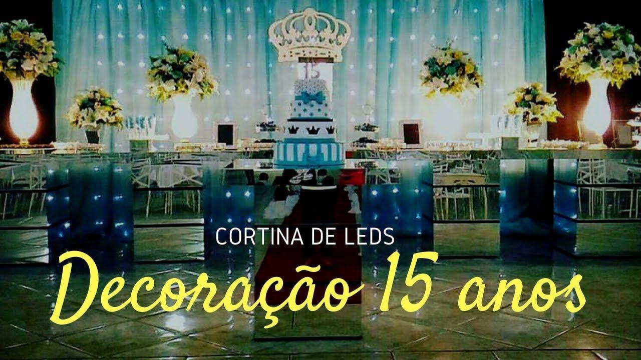 Festa De 15 Anos Simples: Decoração De Festa 15 Anos Com Cortina De Leds, Tiffany