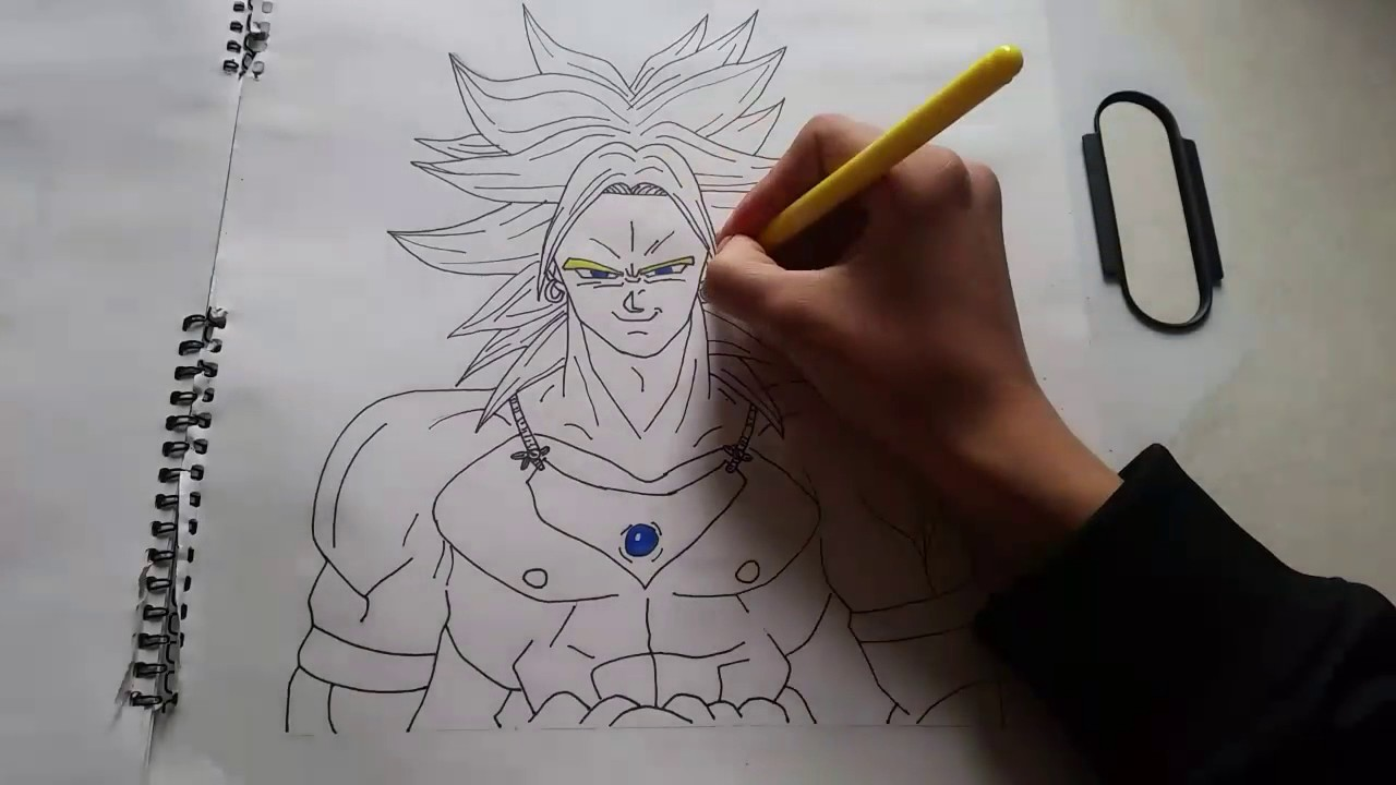 Coloring broly ssj from dbz coloriage de broly ssj de dbz - Coloriage broly ...