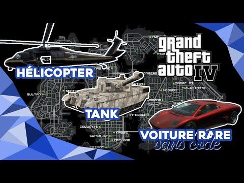 Gta Iv Trouver La Voiture Cachee Lhelico Et Le Tank