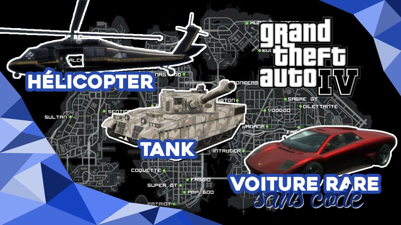 gta iv trouver la voiture cach e l 39 h lico et le tank sans cheat youtube. Black Bedroom Furniture Sets. Home Design Ideas