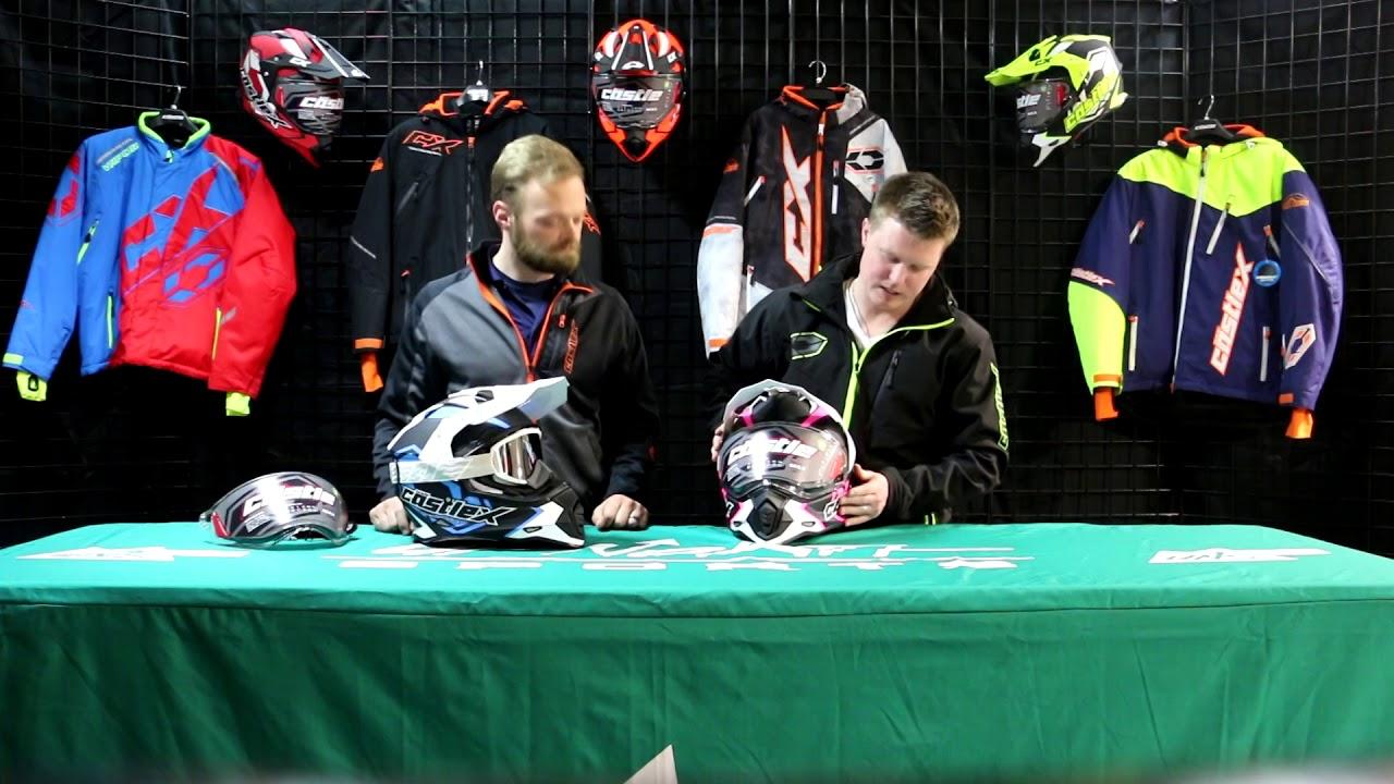 Castle Mode SV Agent Dual Sport Helmet Matte Hi-Vis