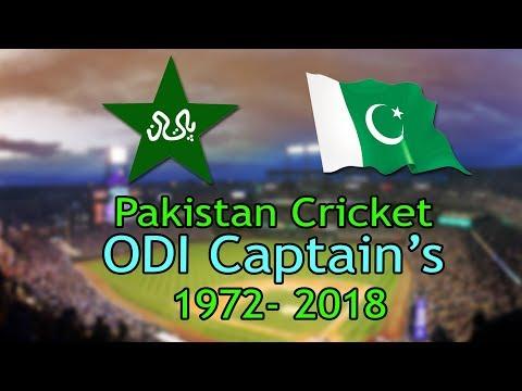 All Pakistani OID Match Captains 1972-2018 | Pakistan National Cricket Team Captains