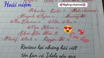 Review viết tên bằng chữ nét nghiêng sáng tạo