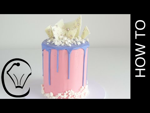 Generate Cotton Candy Flavoured Tall Drip Cake How To by Cupcake Savvy's Kitchen Images