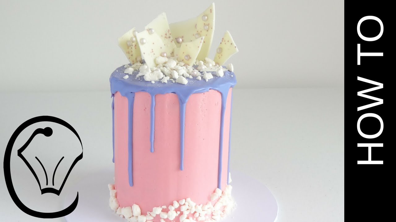 Cotton Candy Flavoured Tall Drip Cake How To By Cupcake Savvy S