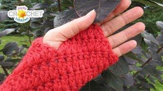 Falling Leaves Fingerless Gloves Crochet Tutorial