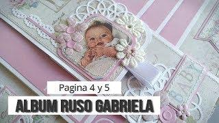 ALBUM RUSO PARA GABRIELA - TUTORIAL (PAGINA 4 y 5) | LLUNA NOVA SCRAP