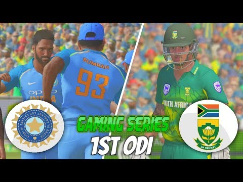 INDIA vs SOUTH AFRICA 2018 1ST ODI - ASHES CRICKET 17 (GAMING SERIES)