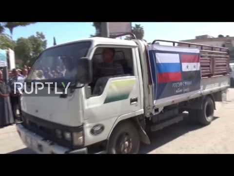 Syria: Russia delivers tons of aid to Hasaka's civilians