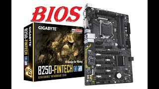 Gigabyte b250 fintech настройка bios