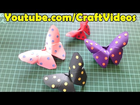 Easy Origami Butterfly |Paper Butterfly step by step tutorial