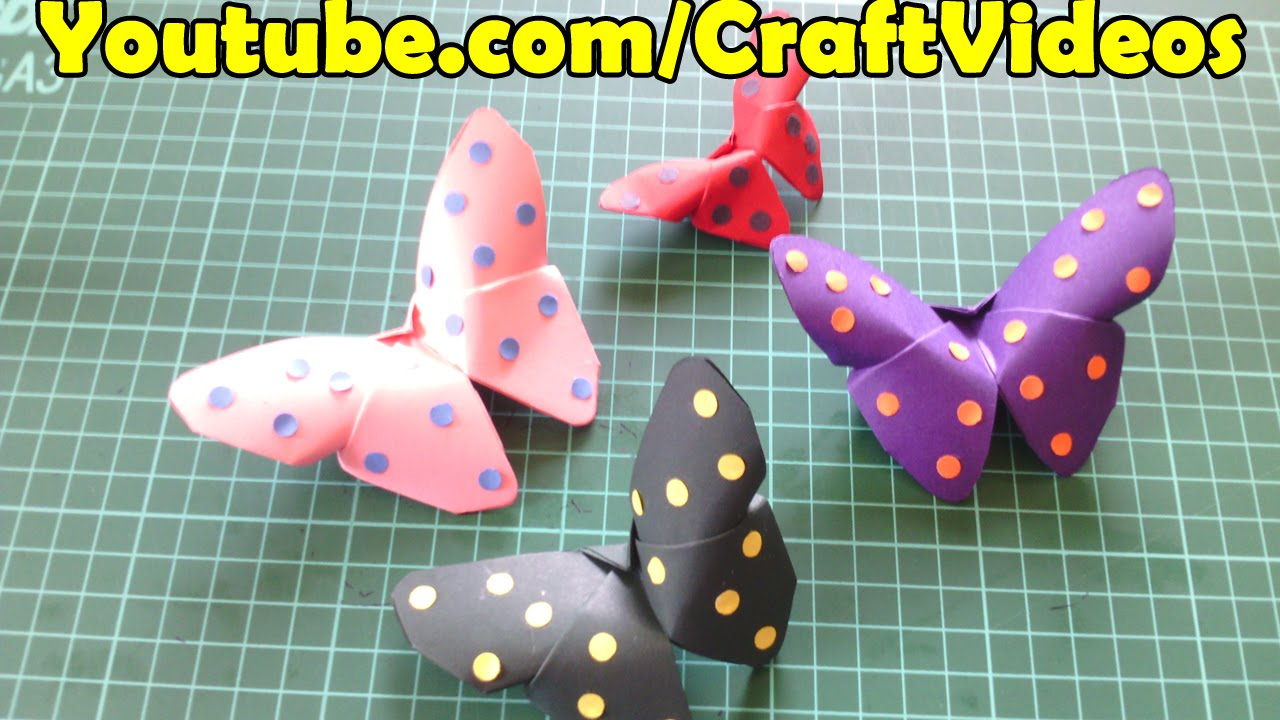 Paper Butterfly Step By Step