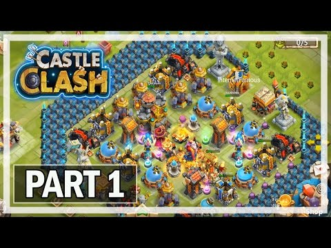 Castle Clash Gameplay Part 1 102K Might - Android Let's Play & Commentary
