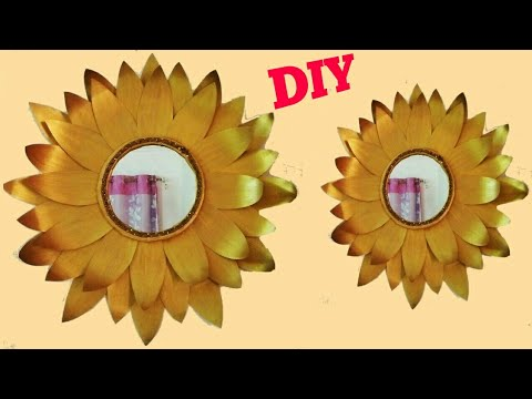 Diy Quick and Easy Glam Wall Mirror Decor/diy wall Decor/room decor ...