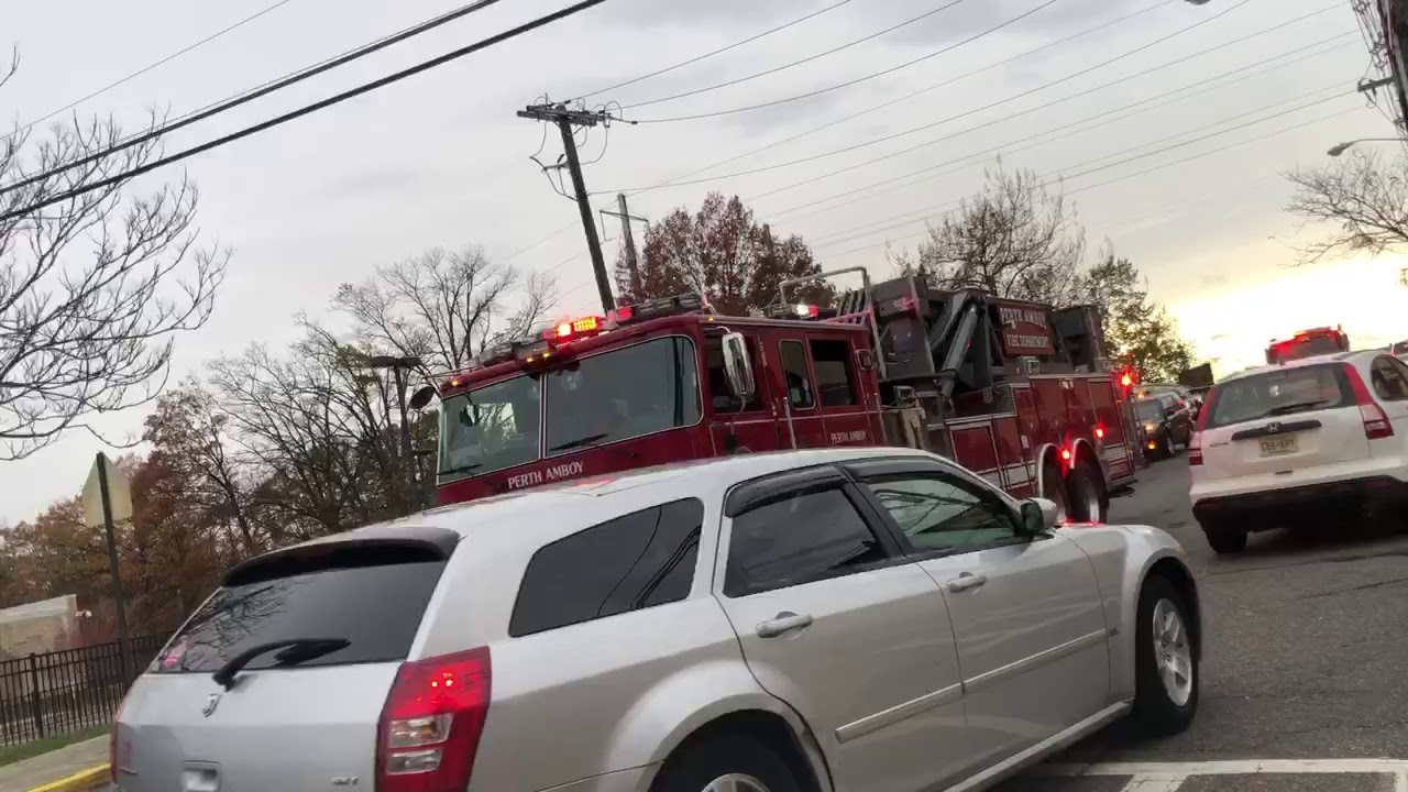 T-2, E-1, C-5, E-3 Responding To A Fire Alarm Activation | Perth Amboy FD | 10-12-19