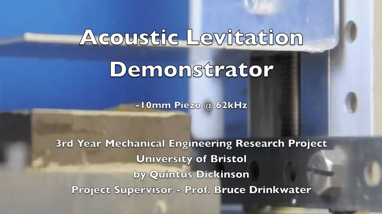 Acoustic Levitation Using A Piezoelectric Transducer Youtube 50w Ultrasonic Ceramic For Humidifier Circuit