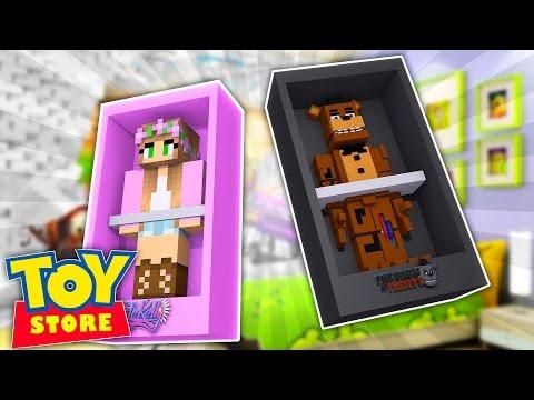 Minecraft TOYSTORE : FREDDY FAZBEAR DOLL KIDNAPS BARBIE! w/LittleKelly,Carly & TinyTurtle (Roleplay)