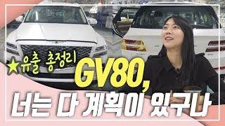 제네시스 GV80 유출샷 총정리! 출시일