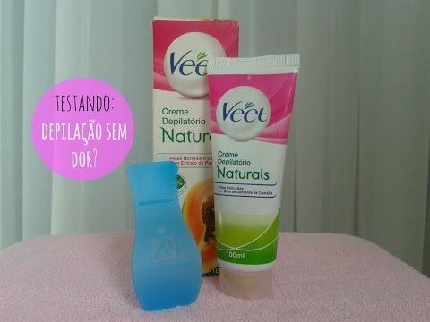 Depilação sem dor: Testando creme depilatório Veet  ♥ por Marina Macedo ♥
